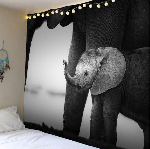 Vintage Elephant Print Wall Hanging Tapestry - Cendre W71 INCH * L71 INCH