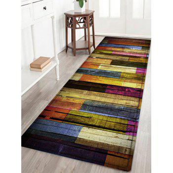 Colorful Wood Flooring Pattern Indoor Outdoor Area Rug
