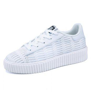 Lace Up Breathable Mesh Athletic Shoes - 37 37