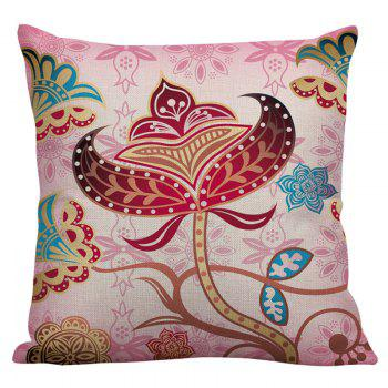 Floral Printed Linen Decorative Pillow Case - COLORFUL COLORFUL