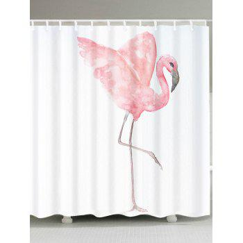 Watercolor Painting Flamingo Shower Curtain