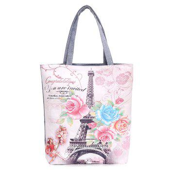 Canvas Print Shoulder Bag