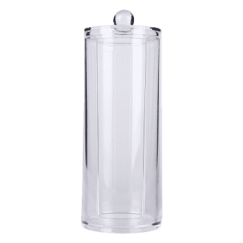 Cylinder Shape Makeup Storage Bucket Cosmetic Organizer - TRANSPARENT