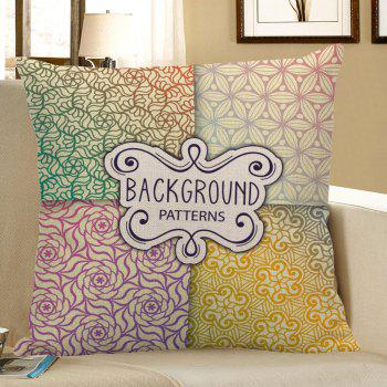 Bohemian Floral Letter Print Pillow Case - COLORFUL 45*45CM