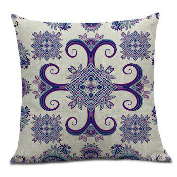 Home Decor Bohemian Geometric Floral Linen Pillow Case - 45*45CM 45*45CM