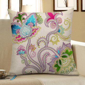 Home Decor Floral Printed Pillow Case - COLORFUL COLORFUL