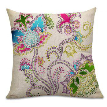 Home Decor Floral Printed Pillow Case - COLORFUL 45*45CM