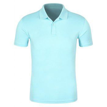 Quick Dry Half Button Plain Polo Shirt