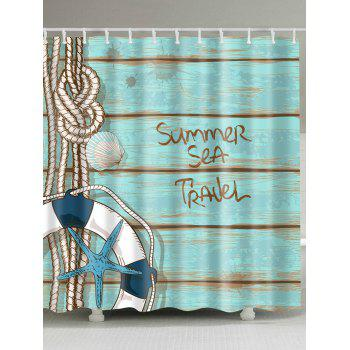 Plank Buoy Anti-bacteria Shower Curtain with Hooks
