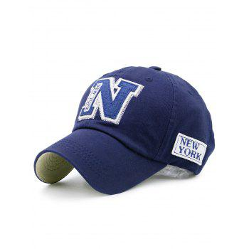 Letters Embellished Outdoor Baseball Hat - BLUE BLUE