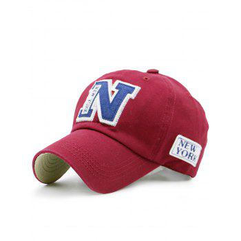Letters Embellished Outdoor Baseball Hat - RED RED