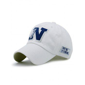 Letters Embellished Outdoor Baseball Hat - WHITE WHITE