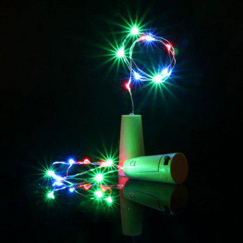 Decorative 2PCS Bottle Stopper Colorful LED String Light - COLORFUL