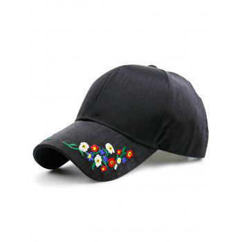 Letters Embroidery Pinstripe Baseball Cap