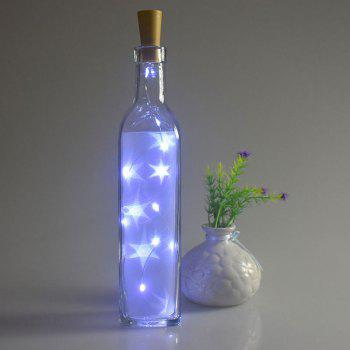 Home Party Decorative 2PCS Bottle Stopper LED String Light - BLUE