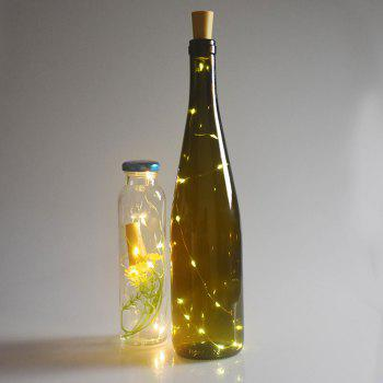 Wedding Decorative 2PCS Bottle Stopper LED String Light - YELLOW YELLOW