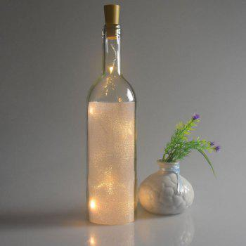 Wedding Decorative 2PCS Bottle Stopper LED String Light -  YELLOW