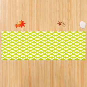 Patterned Anti-skid Indoor Outdoor Area Rug - YELLOW W24 INCH * L71 INCH