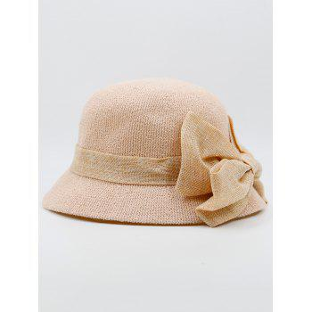 Bowknot Ribbon Embellished Sun Hat -  PINK
