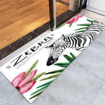 Zebra Floral Pattern Indoor Outdoor Area Rug - W24 INCH * L71 INCH W24 INCH * L71 INCH