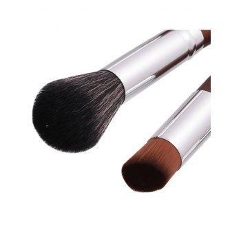 10Pcs Nylon Aluminum Tube Makeup Brushes Set -  COFFEE
