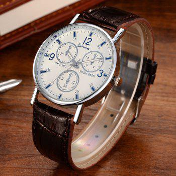 Multi Dial Design Quartz Watch -  WHITE