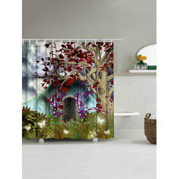 Fairyland Print Bathroom Decor Shower Curtain - COLORMIX W71 INCH * L79 INCH