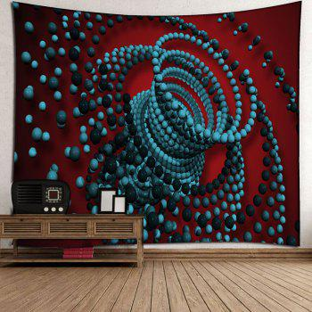 3D Psychedelic Beads Waterproof Wall Tapestry - COLORFUL W59 INCH * L79 INCH