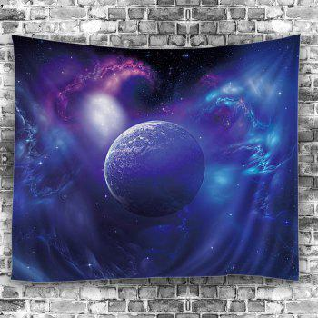 Outer Space Star Earth Wall Hanging Tapestry - BLUE W59 INCH * L79 INCH