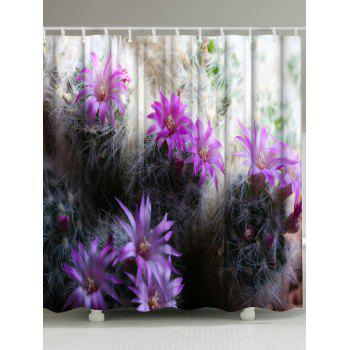 Cactus Polyester Fabric Shower Curtain For Bathroom