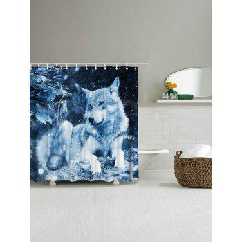Snow Wolf Fabric Shower Curtain For Bathroom - W71 INCH * L79 INCH W71 INCH * L79 INCH