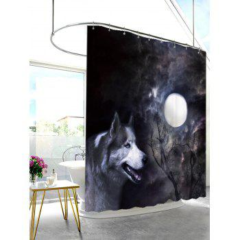 Moonlight Wolf Fabric Shower Curtain with Hooks - W71 INCH * L79 INCH W71 INCH * L79 INCH