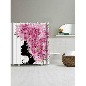 Floral Fairy Fabric Bathroom Unique Shower Curtain - WHITE W71 INCH * L79 INCH