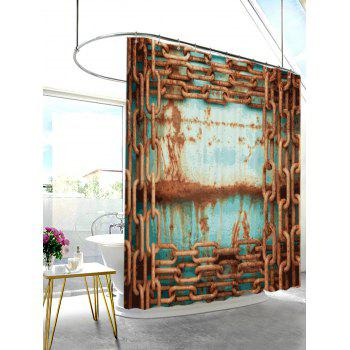 Rusty Chain Mildew Resistant Shower Curtain - COLORMIX W71 INCH * L79 INCH