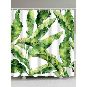 Waterproof Fabric Banana Leaf Shower Curtain
