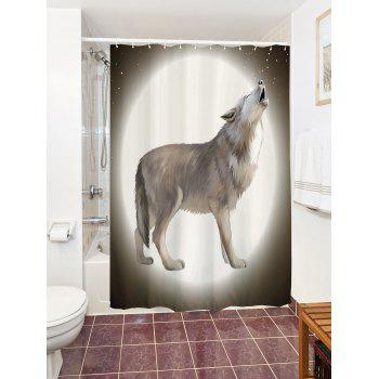 Unique Moon Wolf Shower Curtain For Bathroom - W71 INCH * L79 INCH W71 INCH * L79 INCH