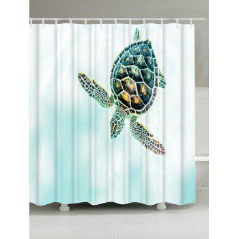 Thicker Tortoise Anti-bacteria Shower Curtain - COLORMIX COLORMIX