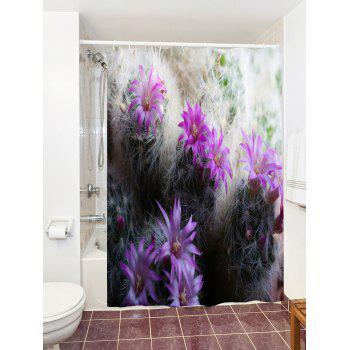 Cactus Polyester Fabric Shower Curtain For Bathroom - COLORMIX W59 INCH * L71 INCH