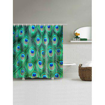 Peacock Feather Water Resistant Shower Curtain - W71 INCH * L79 INCH W71 INCH * L79 INCH