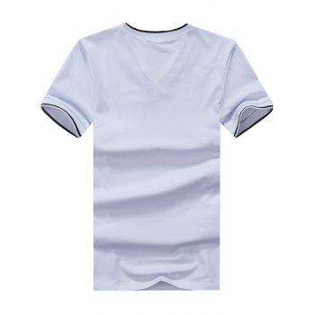 Embroidered V Neck Tee - XL XL