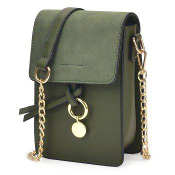 Metal Detail Chain Crossbody Bag - GREEN GREEN