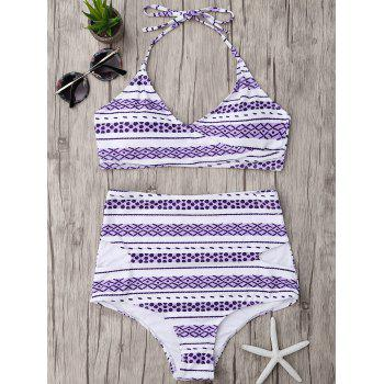 High Waisted Halter Wrap Bikini Set