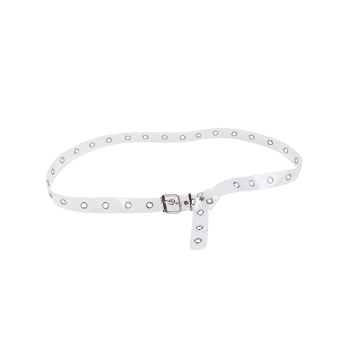 Transparent Pin Buckle Rivet Hole Belt
