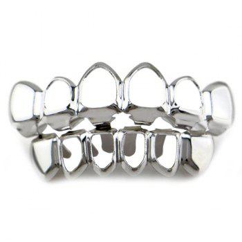 Hollowed Top Bottom Teeth Hip Hop Grillz Set