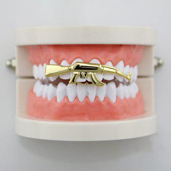 Hip Hop Gun AK47 Shape Top Teeth Grillz