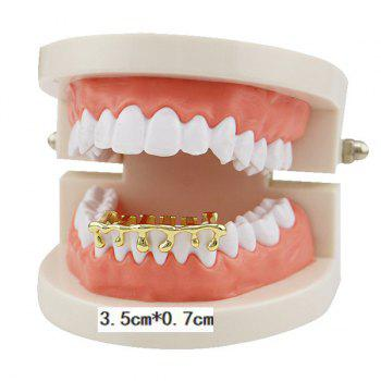 Lava Shape Hip Hop Bottom Teeth Grillz - GOLDEN