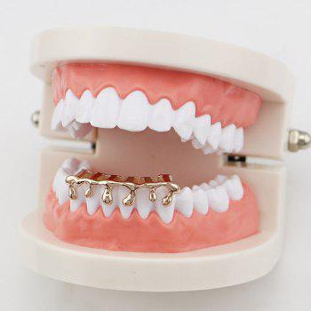 Lava Shape Hip Hop Bottom Teeth Grillz - ROSE GOLD ROSE GOLD