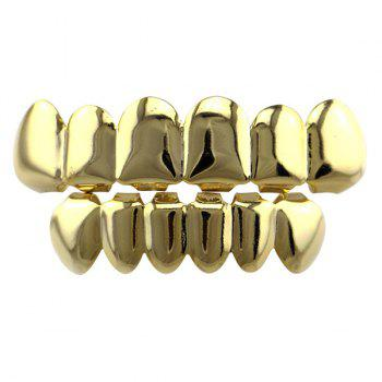 Smooth Top Bottom Teeth Hip Hop Grillz Set