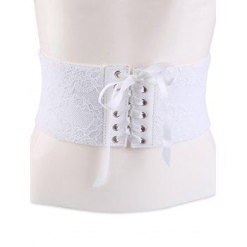Lace Up Retro Lacework Corset Belt
