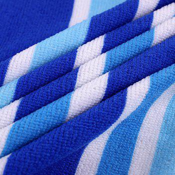 Striped Print Rectangle Soft Bath Towel - BLUE W15.5 INCH * L67 INCH